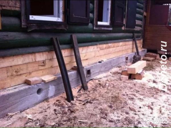 Ремонт и замена фундамента, замена гнилых венцов, подъем и перенос дом ...